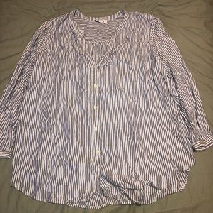 old navy striped button down blouse